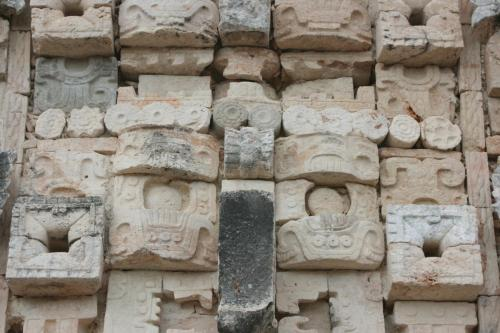 Detail from the pyramids in Uxmal