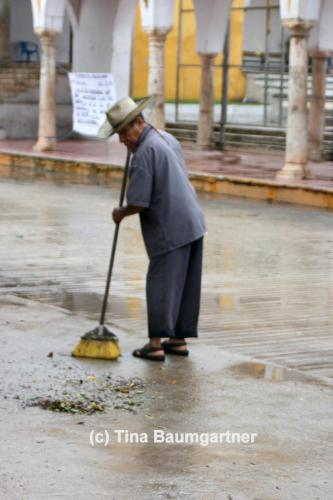 Clean up after the rain